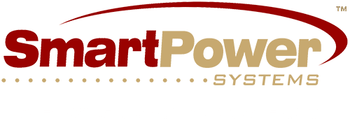 Logo smart Power rojo y dorado
